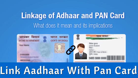 Link Aadhaar With Pan Card