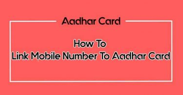 link mobile number to aadhar card